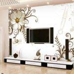 Living Room Flower Printing Wall Paper