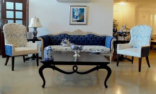 Living Room Furniture Blue Small Sofas Rooms