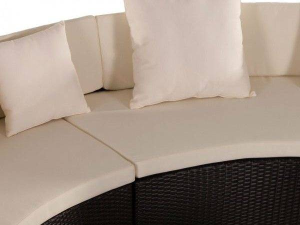 Living Room Furniture Sofa Semi Round Modern Rattan