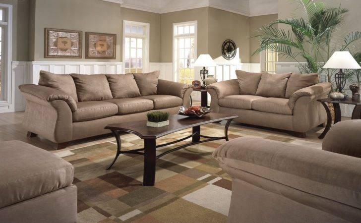 Living Room Luxury Broken White Semi Leather Bridgewater Sofas