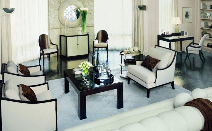 Living Room Modern Art Deco Interior Style