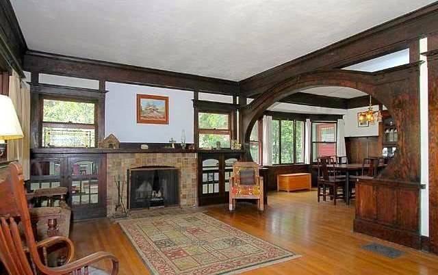 Living Room Original Batchelder Fireplace Wood Floors