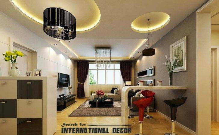 Living Room Pop Ceiling Designs Well Curved Ceilings Rooms