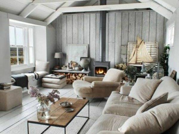 Living Room Rustic Setting Country House Style
