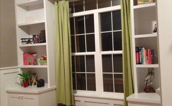 Living Room Shelves Around Window Seats Diy Seat