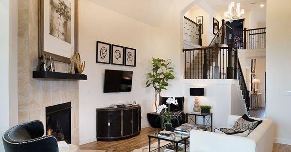 Living Room Shines Black White Hints Gold Highland