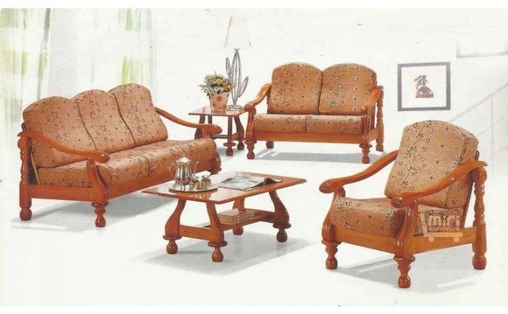 Living Room Sofa Wooden Set