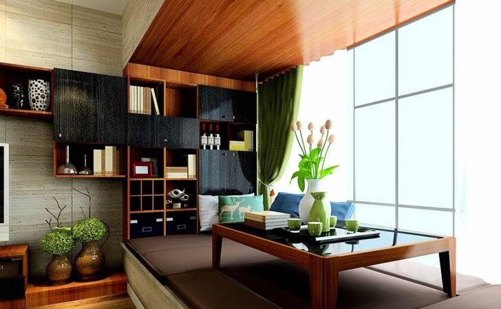 Living Room Tatami Coffee Table Minimalist Study