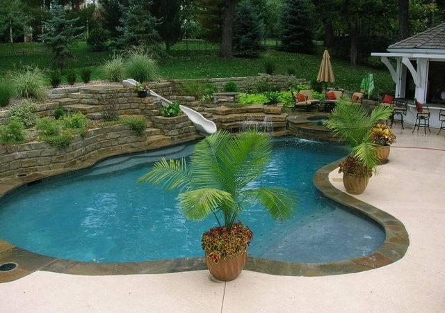 Living Tropical Pool Kansas City Banks Spa Design