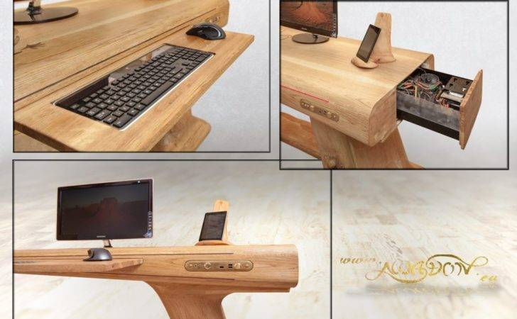 Lizard Desk Diy Computer Catch Your Eye Damngeeky