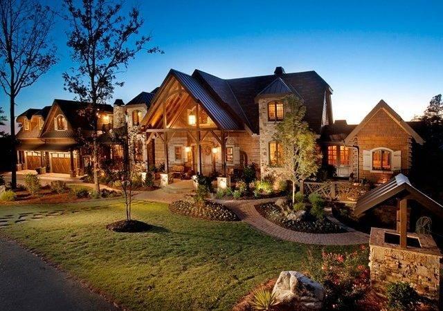 Lodge Traditional Exterior Atlanta Modern Rustic Homes