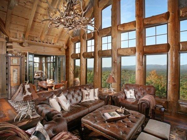Lodge Traditional Living Room Atlanta Modern Rustic Homes