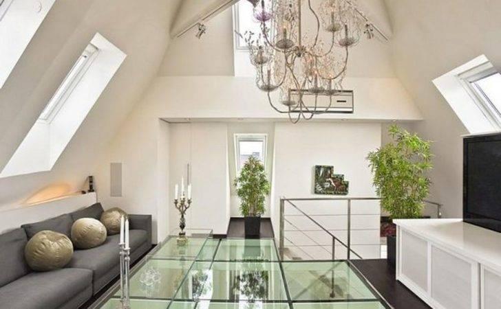 Loft Apartment Glass Floor Design Home Inspiration