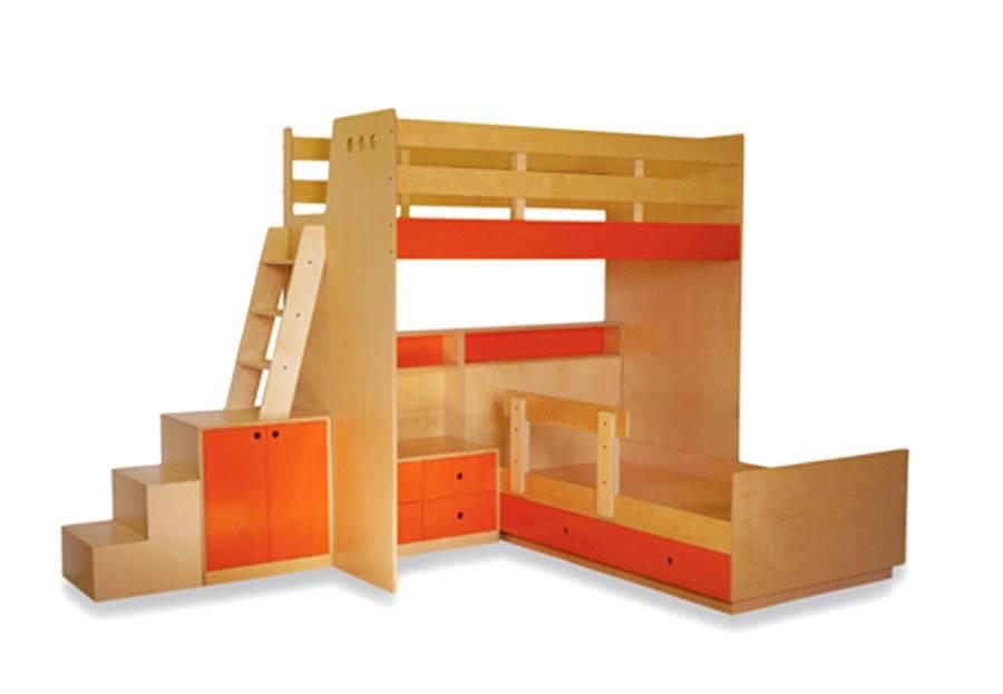 Loft Beds Orange Furniture Design Children Bedroom