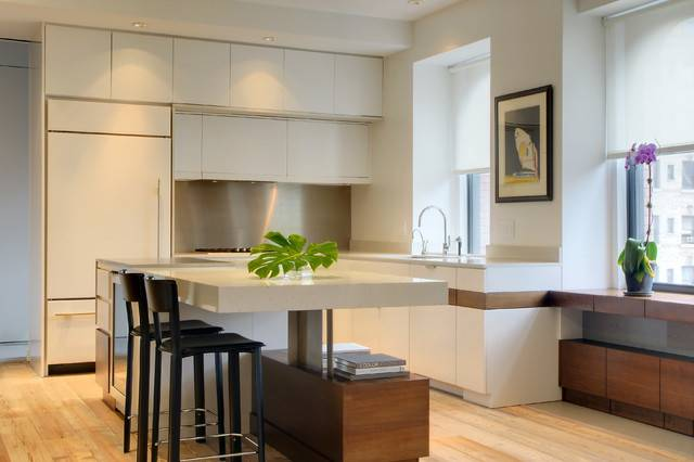 Loft Contemporary Kitchen New York Amanda Zorumski Design