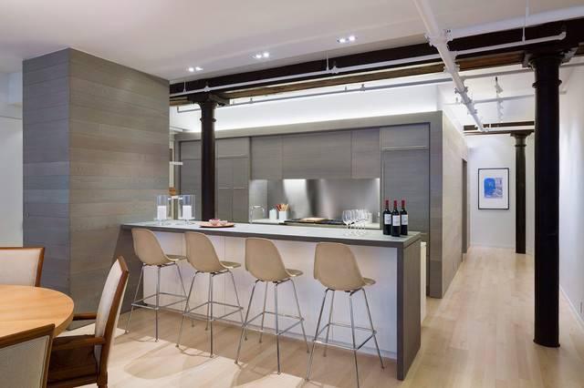 Loft Kitchen Modern New York Leone Design Studio