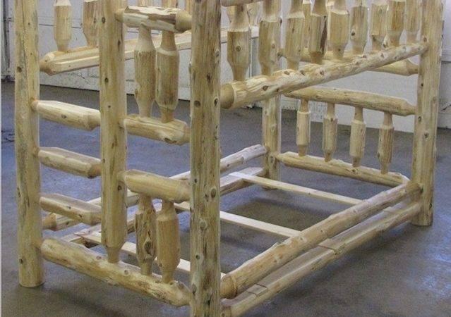 Log Bunk Bed Rooms Low Ceilings Space Saver Bunkbed