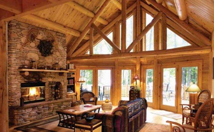 Log Cabin Interior Design Living Room Small