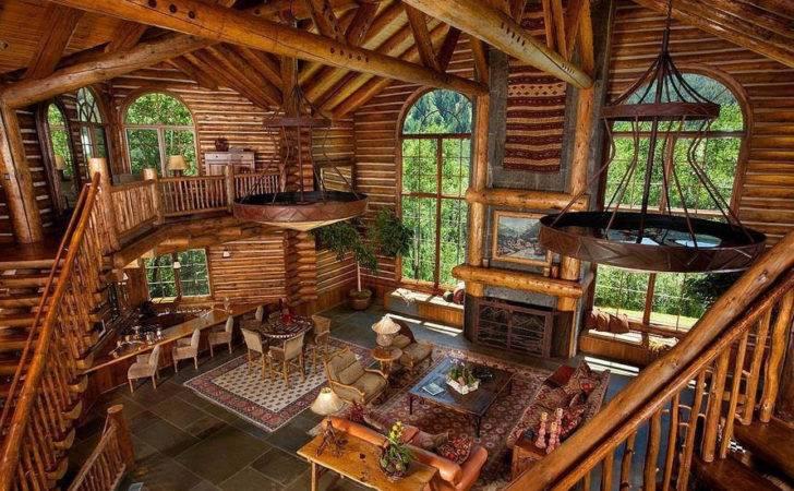 Log Cabin Interior Mountain Life Dream Pinterest