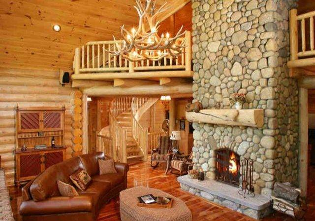 Log Cabin Interior Pinterest