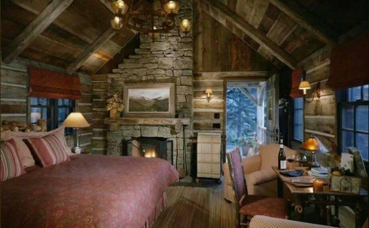 Log Cabin Interior Rustic Lake House Pinterest