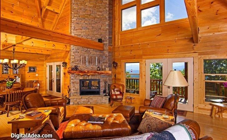 Log Cabin Living Room Design Decorating Budget