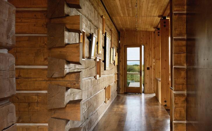 Log Cabin Wood Interior Small Interiors Designs