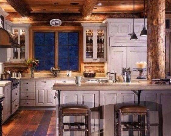 Log Home Decorating Pinterest Living Cabin