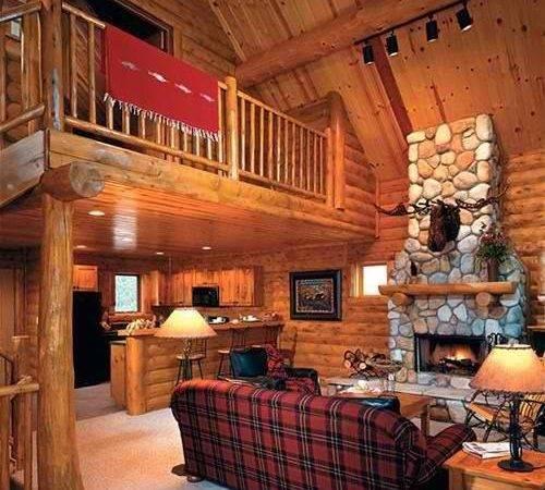 Log Home Fireplace Lakehouse Cabin Tiny House Pinterest