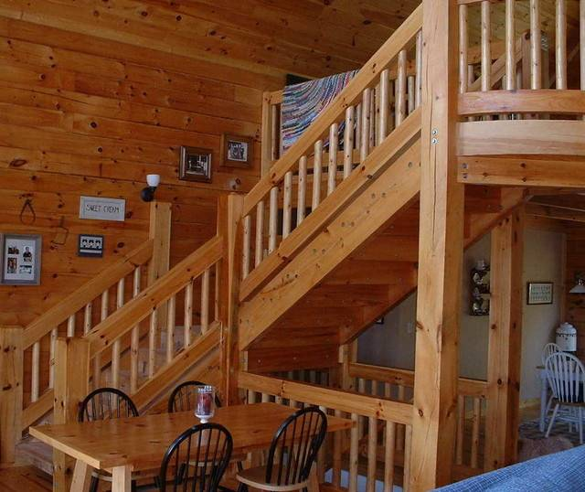 Loghouse Rustic Staircase Nashville Llg Residential Design