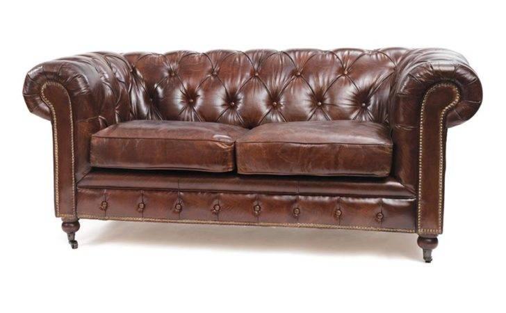 London Vintage Top Grain Leather Chesterfield Sofa Kathy