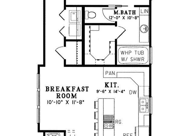 Long House Plan Shotgun Apartment Floor Narrow