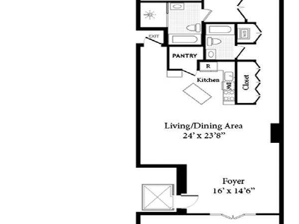Long Narrow Apartment Floor Plans