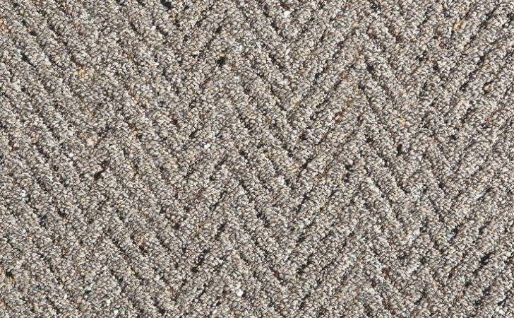 Look Both Ways Herringbone Texture Carpeting Putty