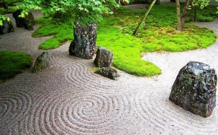 Look Japanese Zen Garden Feel Comforting Wave Calm