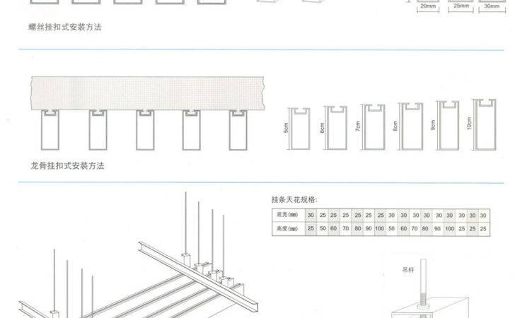 Loose Strip Panels Suspended Ceilings