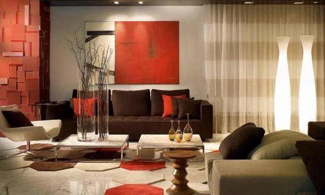 Los Acentos Mar Chocolate Naranja Muebles Accesorios