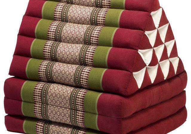 Lounger Army Red Asian Floor Pillows Poufs