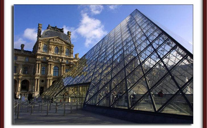 Louvre Steel Glass Structure Contrasting
