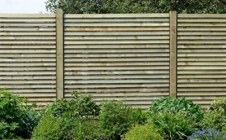 Louvre Wooden Fence Panels Contemporary