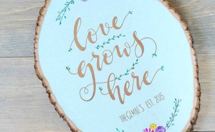 Love Grows Here Wood Slice Add Cart Spring Inspired Wall Art