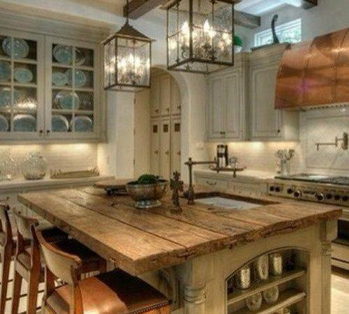 Love Rustic Kitchen Island Would Change Wall Colors