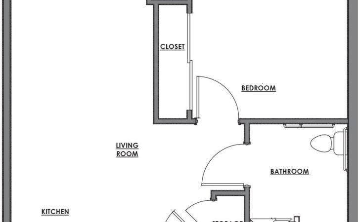 Lovely One Room House Plans Floor