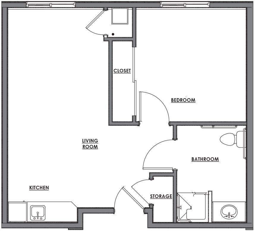 Lovely One Room House Plans Floor