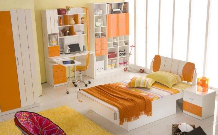 Loving Orange Bedroom Modern House Design