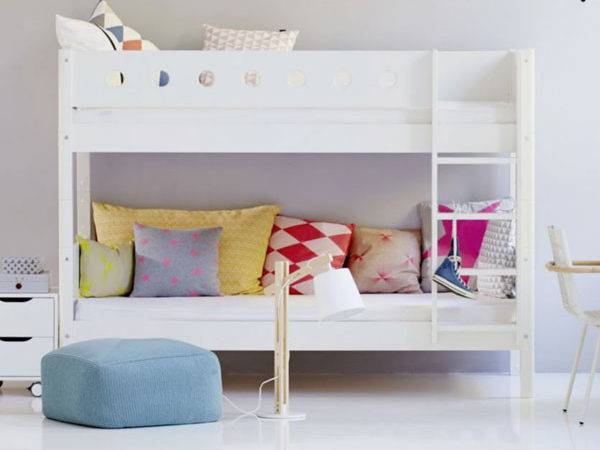 Low Bunk Bed White