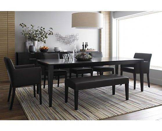 Lowe Smoke Leather Bench Benches Crate Barrel