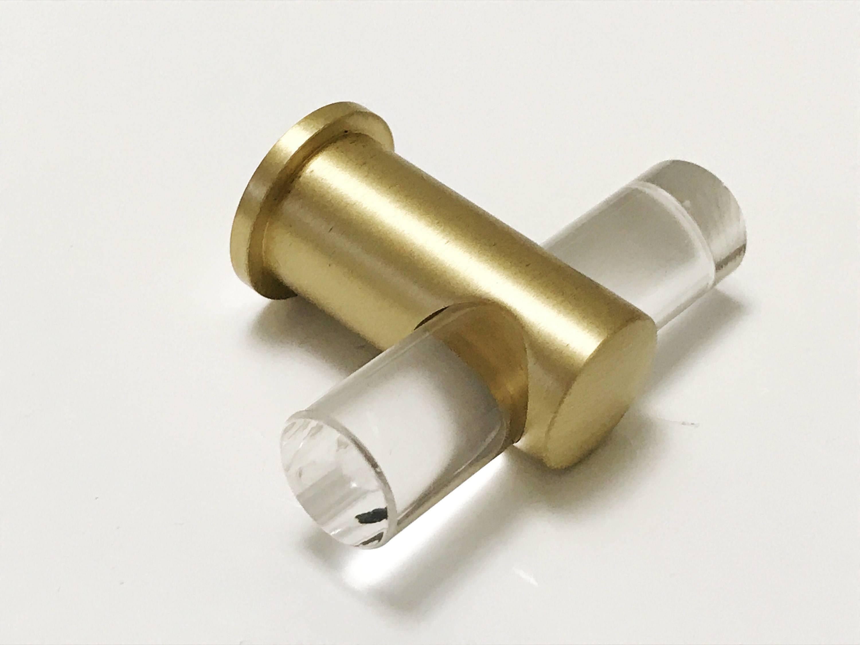 Lucite Drawer Knobs Brass Hardware Pulls