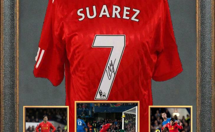 Luis Suarez Signed Jersey Framed Ebay