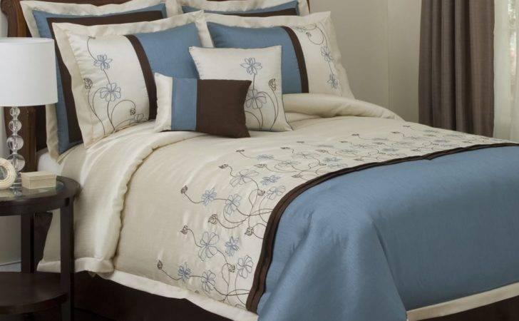 Lush Decor Brown Blue Chocolate Bedding